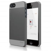 Чехол для iPhone 5 / 5s Elago S5 Outfit Aluminum Dark Grey