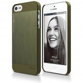 Чехол для iPhone 5 / 5s Elago S5 Outfit Matrix Aluminum Camo Green