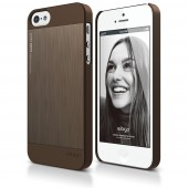 Чехол для iPhone 5 / 5s Elago S5 Outfit Matrix Aluminum Chocolate