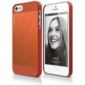 Чехол для iPhone 5 / 5s Elago S5 Outfit Matrix Aluminum Orange