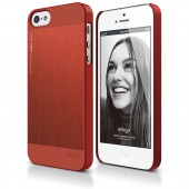 Чехол для iPhone 5 / 5s Elago S5 Outfit Matrix Aluminum Red