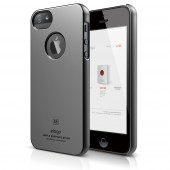 Чехол для iPhone 5 / 5s Elago S5 Slim Fit Metallic Dark Gray