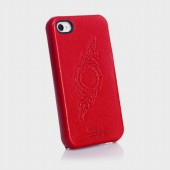 Чехол для iPhone 4, 4S SGP Genuine Leather Grip Series Red (SGP06921)