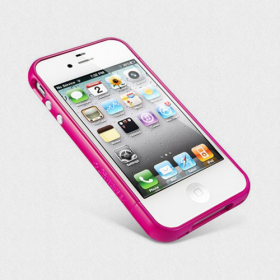 Бампер для iPhone 4, 4S SGP Linear EX Color Series Pink (SGP08396)