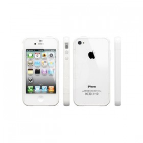 Бампер для iPhone 4, 4S SGP Linear EX Color Series White (SGP08369)