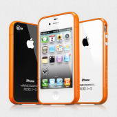 Бампер для iPhone 4, 4S SGP Linear EX Color Series Orange (SGP08371)