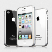 Бампер для iPhone 4, 4S SGP Linear EX Color Series Silver (SGP08368)