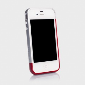 Бампер для iPhone 4, 4S SGP Linear EX Meteor Series Red (SGP08377)