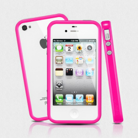 Чехол для iPhone 4, 4S SGP Neo Hybrid 2S Pastel Hot Pink (SGP08397)