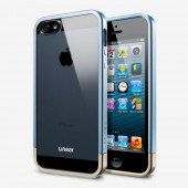 Чехол для iPhone 5 SGP Linear Metal Crystal Blue (SGP10043)