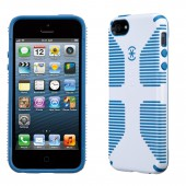 Чехол для iPhone 5 Speck CandyShell Grip White/Harbor Blue
