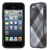 Чехол для iPhone 5 Speck Fabshell Megaplaid Black
