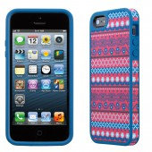 Чехол для iPhone 5 Speck Fabshell DigiTribe Pink/Blue