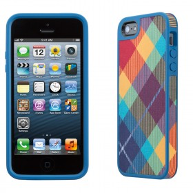 Чехол для iPhone 5 Speck Fabshell Megaplaid Spectrum