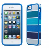 Чехол для iPhone 5 Speck Fabshell ColorBar Arctic