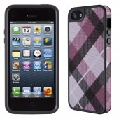 Чехол для iPhone 5 Speck Fabshell MegaPlaid Mulberry/Black