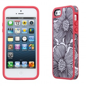 Чехол для iPhone 5 Speck Fabshell FreshBloom Coral